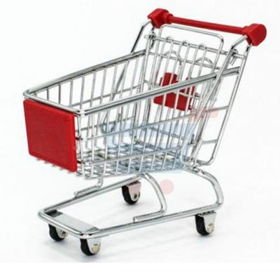 Desktop Stationery Holder Mini Shopping Trolley