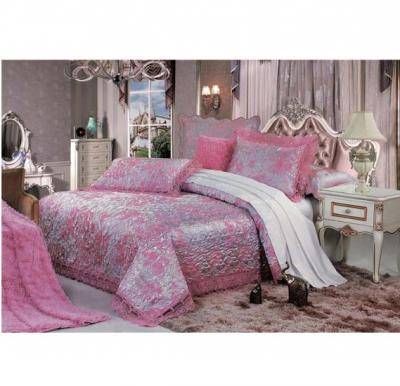 Senoures Blue Marine Jacquard Bed Spread 3Pcs Set Double - SBJ-025