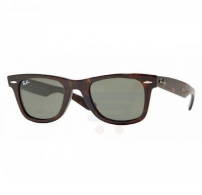 Ray-Ban Wayfarer Brown Frame & Green Mirrored Sunglasses For Unisex - RB2140-902-50