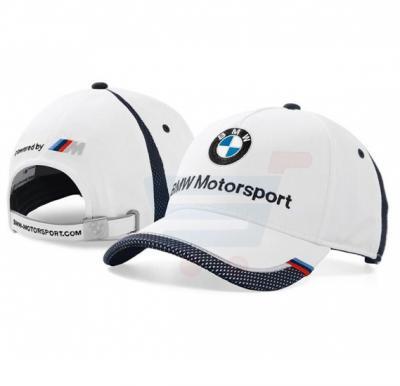 BMW Motor Sport Mesh Visor Cap White, Free Size