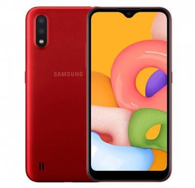 Samsung Galaxy A01 Dual SIM 2GB RAM 16GB 4G LTE-Red