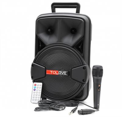 Tolaye Portable Bluetooth LED Speaker With Mic, TED821LED
