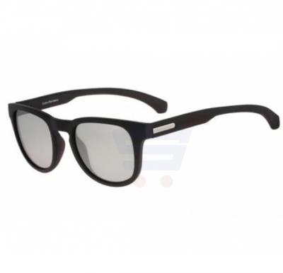 Calvin Klein Oval Black Frame & Clear Mirrored Sunglasses For Unisex - CKJ783S-002