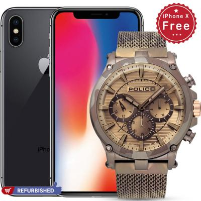 Buy Police Taman Analog Watch for Men and Get Apple iPhone X With FaceTime Space Grey 256GB 4G LTE for free