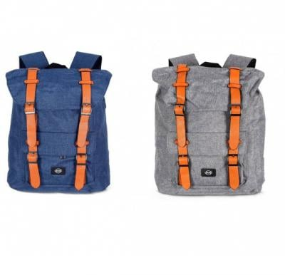 2 in 1 Okko 18 inch casual backpack Blue & Grey