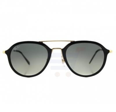 Ray-Ban Aviator Black Frame & Gradient Mirrored Sunglasses For Unisex - RB4253-601-71-53