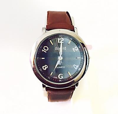 Quartz-Daybird Brown Strap Watch For Ladies