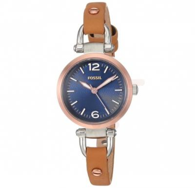 Fossil Blue Dial Leather Band Watch For Women - ES4277
