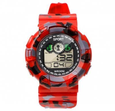 Digital Analogue Sport watch WR30M Red,Alg002
