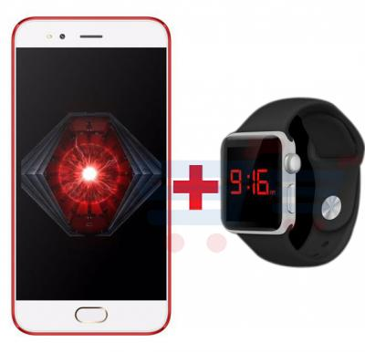 Bundle Offer Lenosed N7 Smartphone, Android, 5.0 Inch FW Display, 1GB RAM, 8GB Storage, Dual Camera, Red And Zooni Multi Color LED Touch Stylish Unisex Resin Band Watch Free