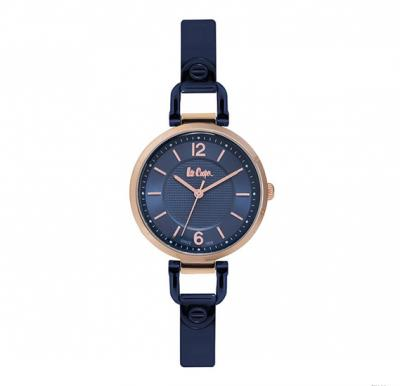 Lee cooper Ladies Rose Gold case, Blue Dial, Blue Bracelet, LC06611.490