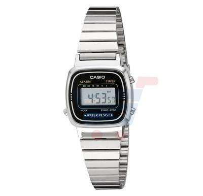 Casio LA-670WA-1D Black Dial Stainless Steel Ladies Watch