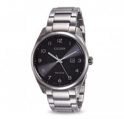 Citizen Mens Black Dial Stainless Steel Band Watch, BM7320-87E