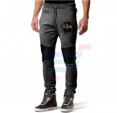 Mens LEATHER Touch Designer Trouser Charcoal Grey - 2985 - S
