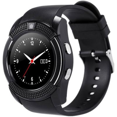 Bison V8 Smartwatch With Camera Black