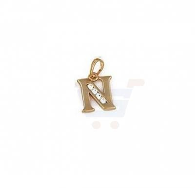 Xuping Necklace Pendant Gold Plated Letter  N
