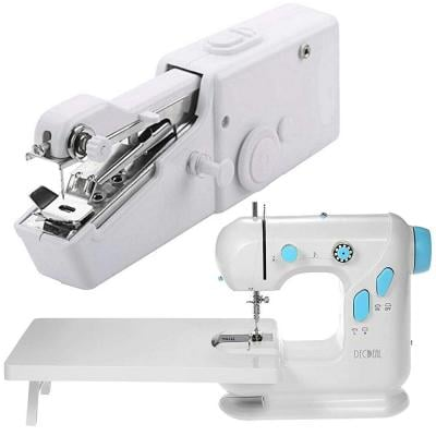 Combo Pack Multifunctional Electric Household Sewing Machine With Extension Table + Free Handy Stitch Sewing Machine