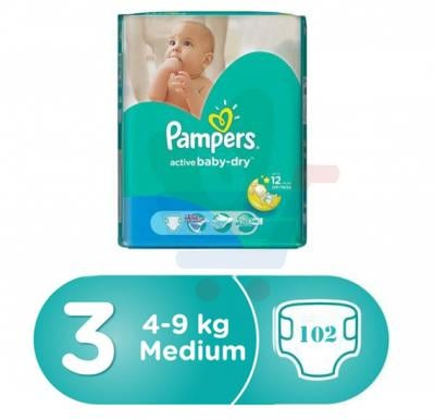 Pampers Main Line Carry Pack 4-9kg, CP-102 Count(6*17pcs)