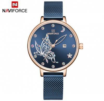 Naviforce Women  Butterfly Stainless Steel  Watch NF5011-Blue