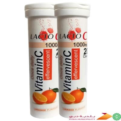 2 In 1 Lacto C Vitamin C Effervescent Tablets
