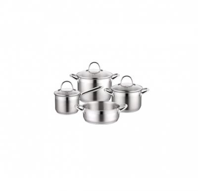Cleenwood Stainless Steel 7Psc Cookware Set (1.9L, 3.2L, 6.1L, 2.9L)- CW-530
