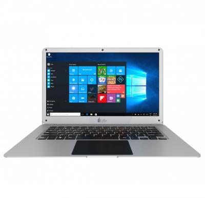 i-life ZED AIR H Note Book, 14 Inch Display, Intel Atom Cherry Trail, 2GB RAM, 32GB eMMC, 500 GB HDD, English Arabic Keyboard, Windows 10 - Silver