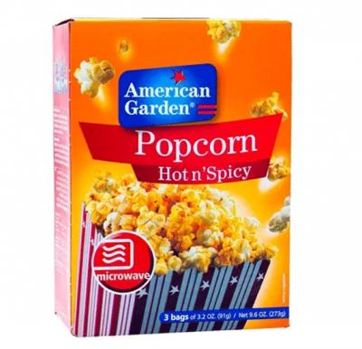 American Garden Microwave Popcorn Hot&Spicy 3.2oz X 3`S