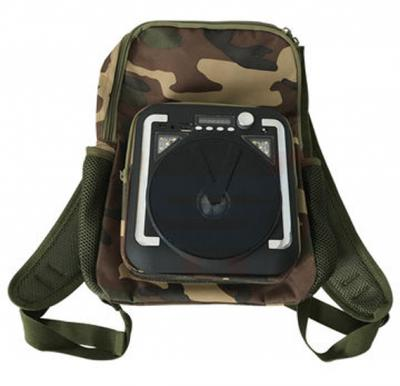 Outdoor Fashion canvas backpack Bluetooth speaker TF card FM radio multifunction wireless speaker, CH-M34