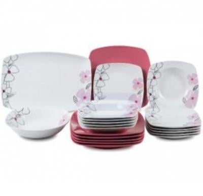Flamingo Porcelain Square Type Dinner Set 20 PCS - FL7701PDS