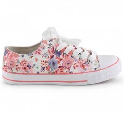 okko flower pattern girls sneaker - GH-825, Pink size-36