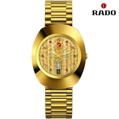 Rado Original Automatic Yellow Gold Dial Mens Watch R12413653