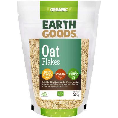 Earth Goods Organic Oat flakes Non Gmo High Fiber 500g, 15523
