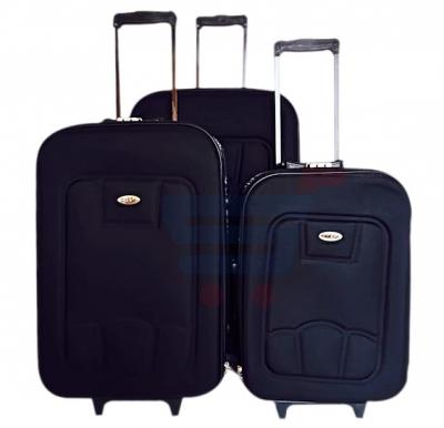 Combo Offer! Omega 3pcs  Trolley Black-20,24,28 Inch