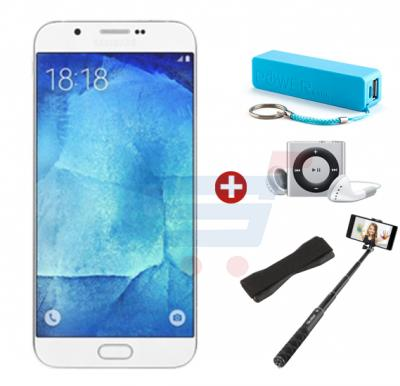 Bundle Offer M-Horse J7 3G Smartphone, 4GB Storage,1GB RAM,  MP3 Player, Power Bank, Selfie Stick & Mobile Grip, Black