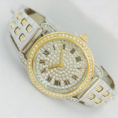 Catwalk Fashionable Cz Stone Covered Analog Stainless steel Silver Dial Watch for Women, CW1005