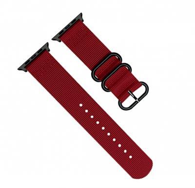 Promate Nylox-42 Nylon Fabric Apple Watch 42mm/44mm Strap, Red