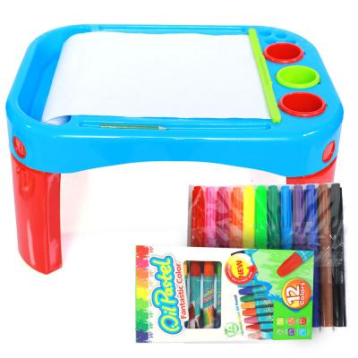 Kids Painting Table With Accessories