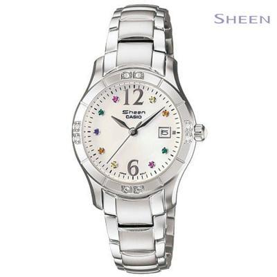 Sheen Analog Silver Stainless Steel Watch For Women, SHN-4019DP-7ADR