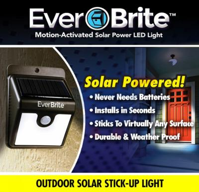 EverBrite Deluxe Motion Activated LED Solar Outdoor Light-EA-877