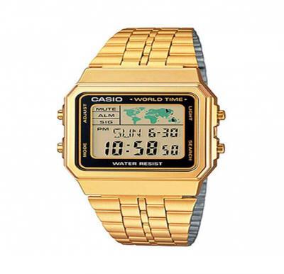 Casio Stainless Steel Digital Watch, A-500WG-1DF