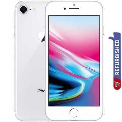 Apple iPhone 8, 2GB RAM, 64GB Storage, 4G LTE, Silver, Refurbished