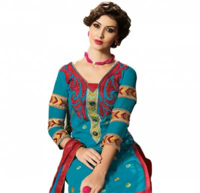 Glossy 1002 Cotton Embroidery Suit