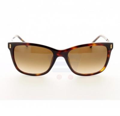 Carolina Herrera Oval Brown Havana Frame & Brown Mirrored Sunglasses For Women - SHE601-04AP