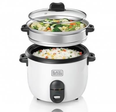 Black & Decker 1.8 Ltr. Non Stick Rice Cooker with Glass Lid, RC1860-B5