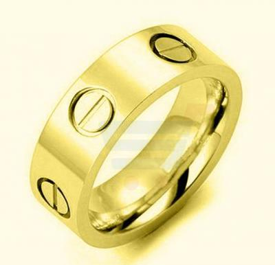 18k Yellow Gold Plated Fashion Love Ring US8 For Women
