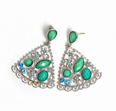 Peacock Stoned Earing Collection for Ladies, Assorted Color