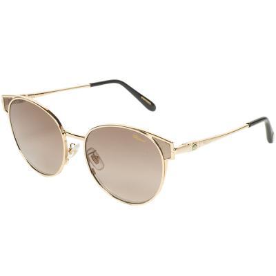 Chopard SCHC21S  Gold Oval Women Sunglasses, Brown