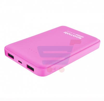 Promate Power Bank 10000mAh With Dual USB Port Compact Portable Charger Voltag-10 Pink
