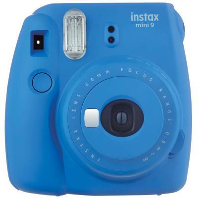 Fujifilm Instax Mini 9 Instant Camera, with 60mm f/12.7 Lens, Cobalt Blue