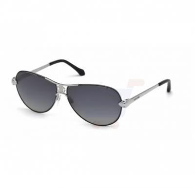 Roberto Cavalli Aviator Silver/Black Frame & Black Gradient Mirrored Sunglasses For Unisex - 883S 16D